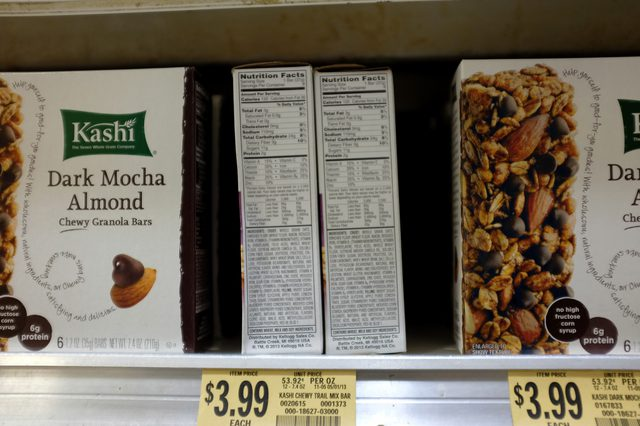 We love Kashi, but check the nutrition labels when you're looking for calorie and fat intake.