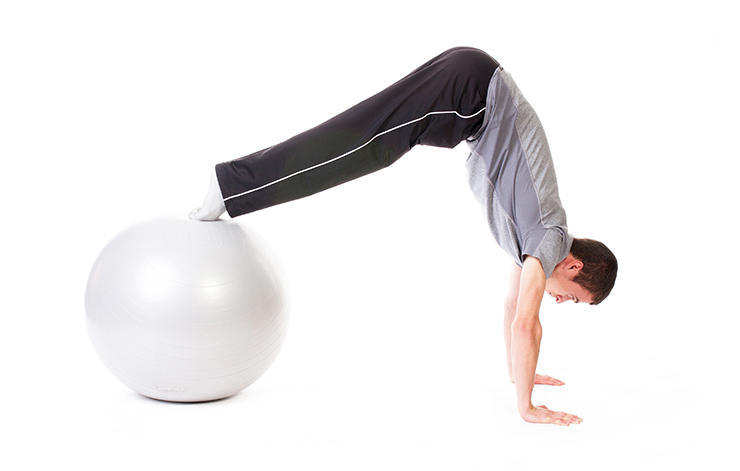 Bikes on a Balance Ball - Core Exercises