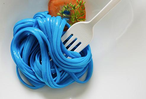 blue pasta