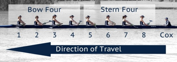 Learn to Row - Definitions-Bow Four and Stern Four